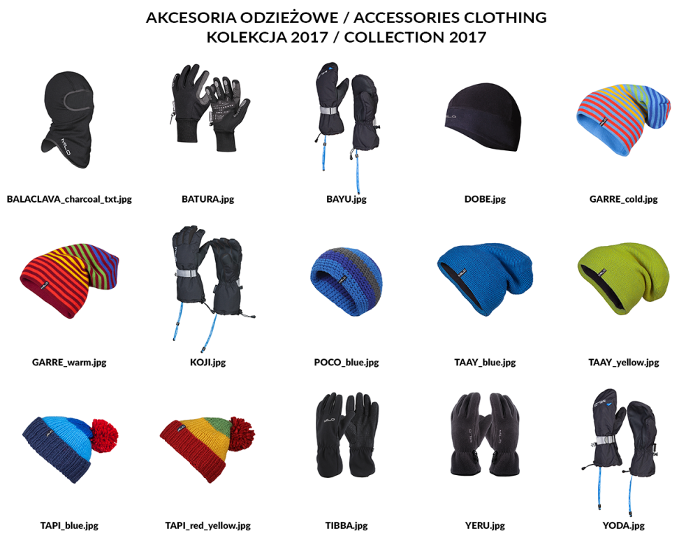 Akcesoria odzieżowe 2017